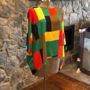 Tops - Sheer colorblock tunic